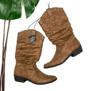 874360ea7895b NWT Arizona Molara Brown Cowboy Pull On Boots 7 ...